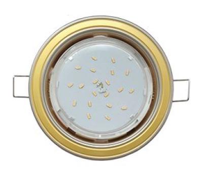Ecola GX53 H4 светильник встраив. без рефл. 2 цв. жемчуг-золото-жемчуг 38х106 Истра