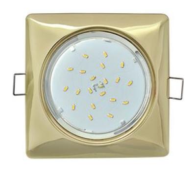 Ecola GX53 H4  Square светильник квадратный без рефл. Золото 107x41 Истра