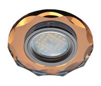 Ecola MR16 DL1653 GU5.3 Glass Стекло Круг с вогнутыми гранями Янтарь / Черненая медь 25x90 Истра