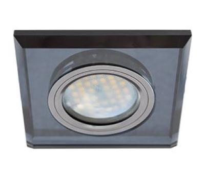 Ecola MR16 DL1651 GU5.3 Glass Стекло Квадрат скошенный край Черный / Черный хром 25x90x90 Истра
