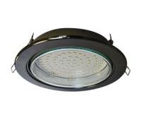 Встраиваемый потолочный точечный светильник-спот Экола GX70 H5 без рефлектора. Черный Хром.