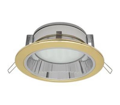 Встраиваемый потолочный точечный светильник-спот Экола GX70 H6Rс рефлектором. Золото Истра