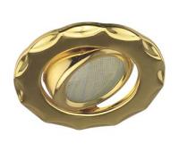 Ecola MR16 DH07 GU5.3 Светильник встр. поворотный Звезда (скрытый крепеж лампы) Золото 25x88 (кd74) Истра
