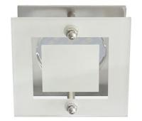 Ecola MR16 DL200 GU5.3 Glass Квадрат со стеклом Прозрачный и Матовый / Хром 45x77x77 Истра