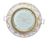 Ecola GX53 H4 Glass Стекло Круг  золото - золото на белом 38x126 Истра