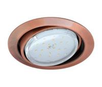 Ecola GX53 FT9073 светильник встраиваемый поворотный черненая медь (antique copper) 40x120 Истра