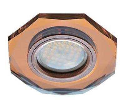 Ecola MR16 DL1652 GU5.3 Glass Стекло 8-угольник с прямыми гранями Янтарь / Черненая медь 25x90 Истра