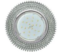 Ecola GX53 H4 Glass Круг с прозр. страз. (оправа хром)/ фон зерк./центр хром 40x120 Истра