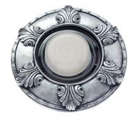 """Ecola накладка широкая гипсовая """"листья"""" для встр. свет-ка GX53 H4 черненое серебро 19х195 Истра"""