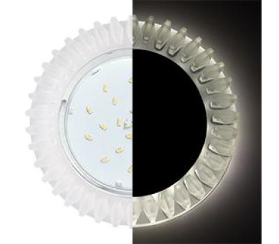 Ecola GX53 H4 LD5361 Glass Круг с матовыми стразами Гребенка с подсветкой/фон мат./центр.часть хром 52x120 (к+) Истра