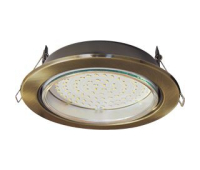 Встраиваемый потолочный точечный светильник-спот Экола GX70 H5 без рефлектора. Чернёная бронза. Истра
