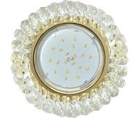 Ecola GX53 H4 Glass Круглый с хрусталиками прозрачный / Золото 56x120 Истра
