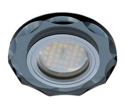 Ecola MR16 DL1653 GU5.3 Glass Стекло Круг с вогнутыми гранями Черный / Черный хром 25x90 Истра