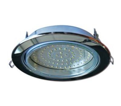 Встраиваемый потолочный точечный светильник-спот Экола GX70 H5 без рефлектора. Хром. Истра