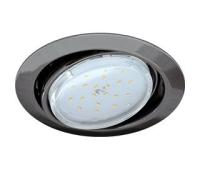 Ecola GX53 FT9073 светильник встраиваемый поворотный черный хром 40x120 Истра