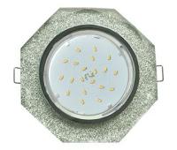 Ecola GX53 H4 Glass Стекло 8-угольник с прямыми гранями  хром - серебряный блеск 38x133 Истра