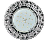 """Ecola GX53 H4 LD7040 Светильник встр. искристый с подсветкой """"Бабочки"""" Тонированный / Хром 35x125 (к+) Истра"""