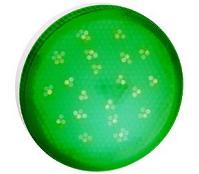 Ecola GX53   LED color  8,0W Tablet 220V Green Зеленый матовое стекло (композит) 28x74 Истра