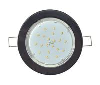 Встраиваемый потолочный Лёгкийсветильник-спот Экола GX53.Без рефлектора. Цвет - Чёрный. Истра