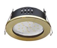 Ecola GX53 H9 защищенный IP65 светильник встраив.  без рефлектора золото 98*55 Истра