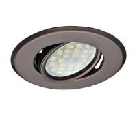 Светильник Ecola MR16 DH09 GU5.3 встр. поворотный плоский (скрытый крепеж лампы) Черный Хром 25x90 Истра