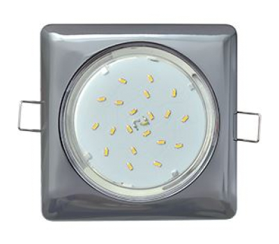 Ecola GX53 H4  Square светильник квадратный без рефл. Черный хром 107x41 Истра