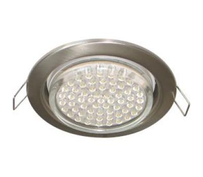 Ecola GX53 H4 светильник встраив. без рефл. satin chrome  38х106 - 2 pack Истра