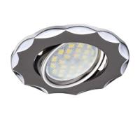 Светильник Ecola MR16 DH07 GU5.3 встр. поворотный Звезда (скр. крепеж лампы) Черный Хром/Хром 25x88 Истра