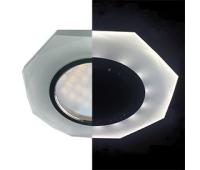 Ecola MR16 LD1652 GU5.3 Glass Стекло с подсветкой 8-угольник с прямыми гранями Матовый / Хром 25x90 (кd74) Истра