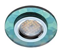 Ecola MR16 DL1654 GU5.3 Glass Стекло Круг граненый Изумруд / Хром 25x90 Истра