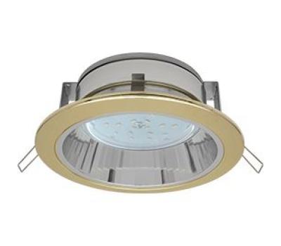 Встраиваемый потолочныйсветильник-спот Ecola GX53 H2R.C рефлектором. Цвет - Золото. Истра