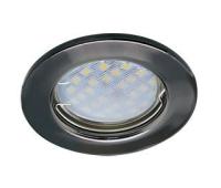 Светильник Ecola Light MR16 DL90 встраиваемый плоский Черный Хром 30x80 - 2 pack Истра