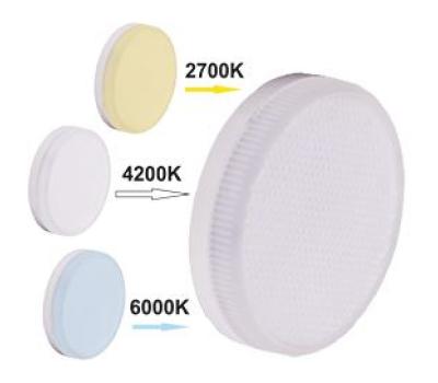 Ecola GX53   LED Premium  7,0W Tablet  220V с изменяемой цв.темп. (2700/4200/6000K) матовое стекло (композит) 27x75 Истра