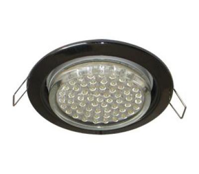 Ecola GX53 H4 светильник встраив. без рефл. черный хром 38х106 - 2 pack Истра