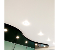 Двухуровневый натяжной потолок 1 м² (всё включено)